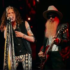 Видео: Стивен Тайлер и Билли Гиббонс исполняют «Rattlesnake Shake»